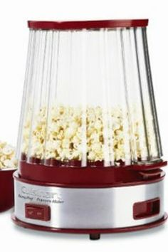 Cuisinart EasyPop Popcorn Maker, Red - The Cuisinart® EasyPop Popcorn Maker puts the crunch back into homemade popcorn! Special vents in the popping bowl let moisture escape to keep popcorn crisp. Pops up to 10 cups in under 5 minutes, and k Specialty Appliances, Small Appliances, Kitchen Appliances, Kitchen Ware, Red Kitchen, Kitchen Dining, Kitchen Tools And Gadgets, Cooking Gadgets, Popcorn Machines