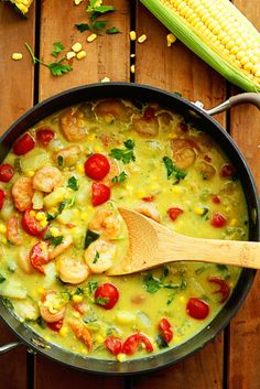 Shrimp and Corn Chowder AND Tieks Giveaway!!! ~ http://www.grandbaby-cakes.com