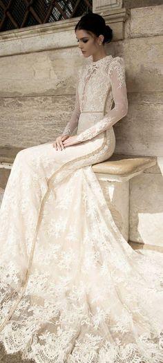 """I Love This Wedding Dress, But I Still Plan on Losing Weight"" - wedding dress idea. Inbal Dror 2015"