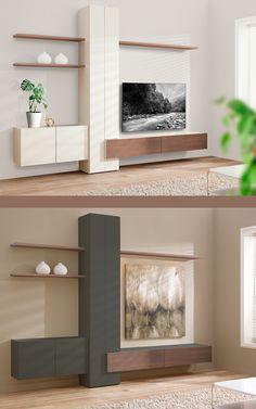 Banz Bord is 55 jaar en viert dit met een speciale aanbieding. Banz Bord Jubilé: een strak design wandmeubel voor de moderne woonkamer. Van €6455 voor €4995 haalt u een origineel, zwevend wandmeubel van Banz Bord in huis. Wandmeubel woonkamer   TV wandmeubel zwevend   woonkamer ideeen   wandmeubel woonkamer modern   design wandmeubel #wandmeubels #banzbord #woonkamer Floating Shelves, Modern Design, Home Decor, Decoration Home, Room Decor, Wall Mounted Shelves, Contemporary Design, Interior Design, Home Interiors