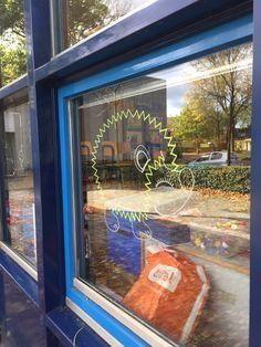 Chalkpaint windowdrawing by Krijtstifttekening Chalk Paint, Etsy Seller, Community, Windows, Creative, Chalk Painting, Window, Ramen