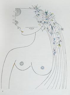 Wifredo Lam : Fata Morgana, 1941. Livre imprimé, colorié à la main, signé par André Breton et Wifredo Lam. 28 cm x 22,5 (26 pages). Photo Suzanne Nagy.