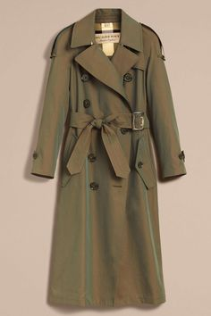 A Burberry trench-coat