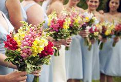 snapdragon bouquets  Fresh Designs  Lauren Brown Photography