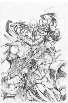 Marvel comics Art by Sandoval-Art.deviantart.com on @deviantART