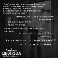 Finding Cinderella. Colleen Hoover. Daniel and Six.