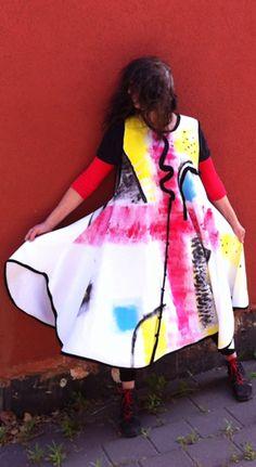 Avia Reuveni - hand-painted dress