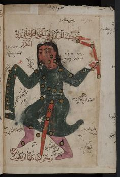 Covered in stars: depiction of a constellation in 14th-century Arabic manuscript (Bodleian Bodl. Or. 133).
