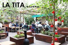 La Tita Rivera. Brunch en un patio escondido. Foto de www.madridcoolblog.com