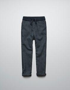 TWEED DRAWSTRING TROUSERS - Trousers - Boy (2-14 years) - Kids - ZARA United States sz 7/8 $39.90