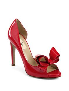 Valentino - Patent Leather Couture Bow D'Orsay Pumps
