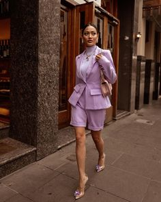 """MICAH GIANNELI no Instagram: """"Lilac love 💜 @fashionnova outfit [FashionNovaPartner]"""" Ootd Fashion, Girl Fashion, Womens Fashion, Formal Suits For Women, Micah Gianneli, Summer Looks, Chic Outfits, Casual Chic, Peplum Dress"""