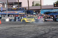 Tires spinning on the SEMA 2012 track