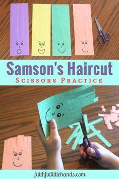 Samson Haircuts Scissors Practice