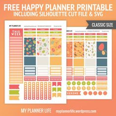 Free Printable Easter Eggs Planner Stickers from My Planner Life