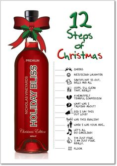 12 Steps of Christmas Unique Humor Christmas Greeting Card
