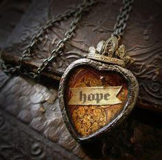 hope -  Book of Kells - Sacred Heart Pictorial Necklace