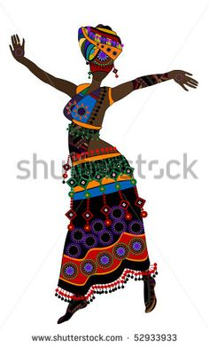 Indian Woman Stock Vector (Royalty Free) 212931106 : Woman in ethnic style with a white African Theme, African Masks, Black Girl Art, Black Women Art, Black Art, African Beauty, African Women, African Image, Afrique Art