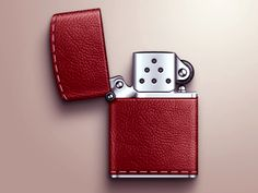 Leather-zippo.  I dont smoke or anything.  I just want to flip open and closed