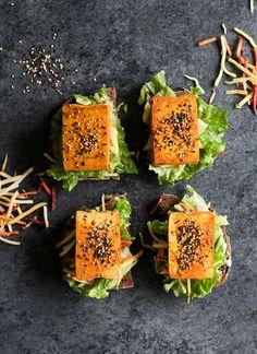 Baked Turmeric Tofu Open-Faced Sandwich