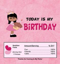 birthday candy wrapper ..free printable