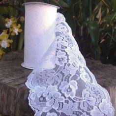 Floral Lace Roll - White [427-LS151-81 White Lace Rolls] : Wholesale Wedding Supplies, Discount Wedding Favors, Party Favors, and Bulk Event Supplies for chair bows