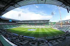 Amazing view of the Weser Stadium, home of the German soccer team SV Werder Bremen Best Football Players, Football Stadiums, Football Soccer, European Football, Latest Images, Baseball Field, You Can Do, Club, German