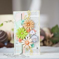 Blossoms and Cards! Evgenia Petzer designed this beautiful card showcasing Blossoms and the Pincushion collection. Love all the beautiful details. Rainbow Card, Scrapbook Cards, Scrapbooking, Card Making Inspiration, Pretty Cards, Card Tags, Paper Cards, Cool Cards, Creative Cards