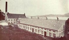 "T.H. Kleivdal Lærfabrik, Laksevåg. (Fra boken ""Bergen med Fana i tekst og bilder"")"