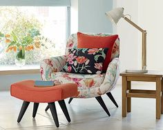 laura ashley - chair and foot stool