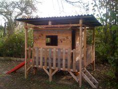 Kids Playhouse Made Out Of Pallets Kids Projects With Pallets Pallet Huts, Cabins & Playhouses (Kids Wood Crafts Pallet Furniture) Pallet Fort, Pallet Kids, Pallet Playhouse, Pallet Trunk, Pallet Crafts, Diy Pallet Projects, Outdoor Projects, Projects For Kids, Wood Crafts