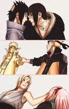 Minato, Naruto, Itachi, Sasuke, Tsunade and Sakura
