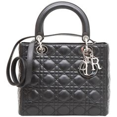 4eab2949c CHRISTIAN DIOR  Lady Dior  Bag in Black Quilted Leather