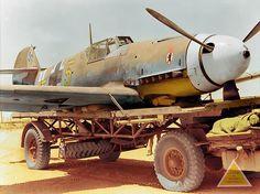 Messerschmitt Bf.109F-4/trop (W.Nr 10074) Gelbe 5 of 6 Staffel, Jagdgeschwader 27, piloted by Leutnant Gerhard Mix, Western Desert, Egypt.  14 August 1942