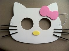 Hello Kitty Birthday Party Masks...not a good link but good idea...
