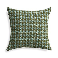 "Seville Aqua 18"" Pillow with Down-Alternative Insert in Decorative Pillows 