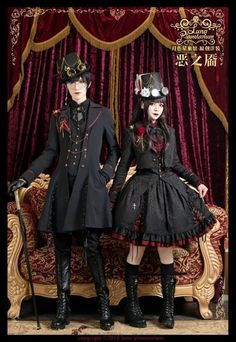 Luna Planetarium -Dimples of Evil- Gothic Ouji Lolita Short Jacket Female Versio. - Luna Planetarium -Dimples of Evil- Gothic Ouji Lolita Short Jacket Female Version Source by - Harajuku Mode, Harajuku Fashion, Kawaii Fashion, Fashion Outfits, Emo Outfits, Scene Outfits, Costume Steampunk, Mode Steampunk, Steampunk Fashion