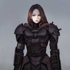 ArtStation - practice drawing, wonbin lee Female Character Design, Character Art, Armadura Medieval, Female Knight, Female Fighter, Female Pictures, Suit Of Armor, Fantasy Armor, Ghost In The Shell