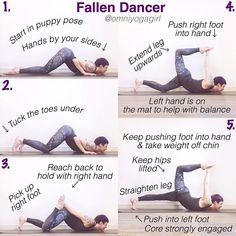 Try the Fallen Dancer pose with these tips! #yoga #zen