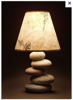 stone lamp.