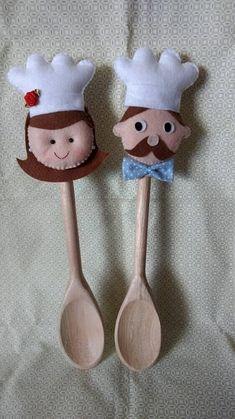 decoração artesanato com feltro para cozinha