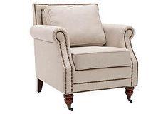 Hudson Club Chair, Beige