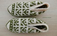 Turkish hand knit unique cozy women's slippers by ALIFEINCOLOURS, $25.00