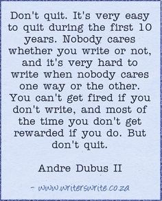 Quotable - Andre Dubus II - Writers Write