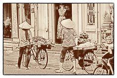 Bike transportation. Hanoi old town.
