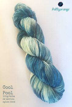 Cool Pool hand dyed superwash merino nylon sock by Pollyorange