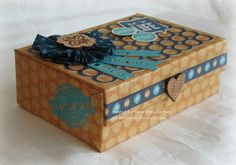 My Creations Card Box - Artbooking and Sarita Paper.   www.stampinheaven.ctmh.com