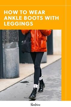 Lately we've found ourselves wondering just how to wear ankle boots with leggings, two of our ultimate go-to cool weather pieces, to guarantee we look pulled together and on-trend. Here are 10 tips to keep in mind. #ankle #boots #leggings Ankle Boots With Leggings, How To Wear Ankle Boots, Kork Ease Boots, Autumn Winter Fashion, Fall Fashion, Style Fashion, Madewell Boots, Petite Leggings, Michael Kors Boots