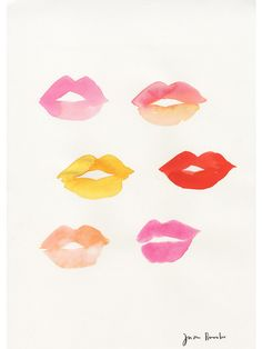 Lipstick traces III | Jason brooks Traces de rouge à lèvres III | Jason Brooks Les lèvres des traces