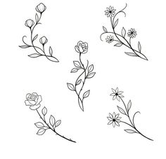 Embroidery designs from botanical images. Only pictures. No link available. jwt - Galena U. Mini Tattoos - diy tattoo image - Embroidery designs from botanical images. Only pictures. No link available. Mini Tattoos, Body Art Tattoos, Tattoo Drawings, Small Tattoos, Small Flower Tattoos, Pencil Drawings, Diy Tattoo, Tattoo Ideas, Tatuagem Diy